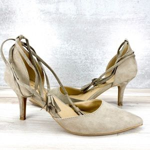 Chinese Laundry Pointed Toe Tie Up Heels - 8